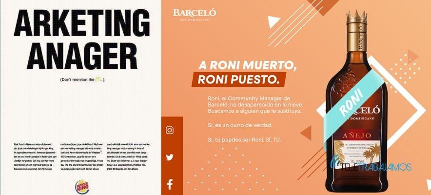 Ejemplos de social recruiting en marketing